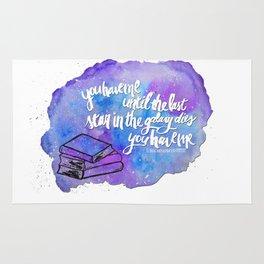 "illuminae ""you have me"" watercolor bubble galaxy Rug"