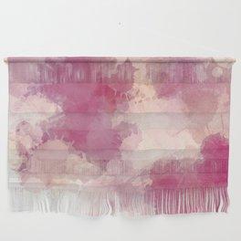 Mauve Dusk Abstract Cloud Design Wall Hanging