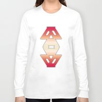 burgundy Long Sleeve T-shirts featuring burgundy edge by design lunatic