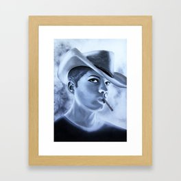 Ryan Phillipe Cowboy hat and a Fag Framed Art Print