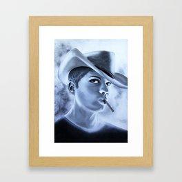 Ryan Phillipe Cowboy hat and a Fag Framed Art Print