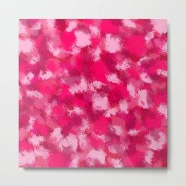 Cubist Valentines Pink Pattern Metal Print