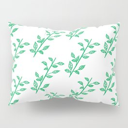 Wild Greeny Leaves Pillow Sham