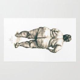mujer en la ducha Rug