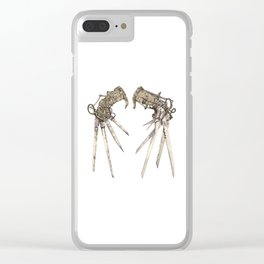 Scissorhands (Sepia) Clear iPhone Case