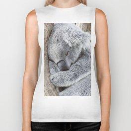 Sleeping Koala Biker Tank
