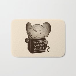 Elephant Overcoming Your Mice Phobia Bath Mat
