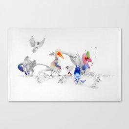 #BirdsAreDinosaurs Canvas Print