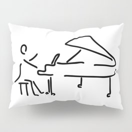 pianist musician plays the piano Pillow Sham