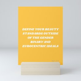 Beauty Standards Mini Art Print