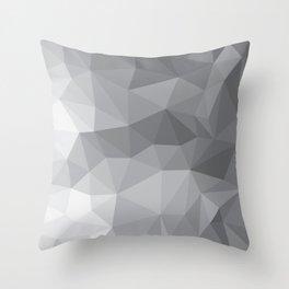 Gray Polygon Background Throw Pillow