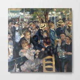 Auguste Renoir -Bal du moulin de la galette, Dance at Le moulin de la Galette Metal Print