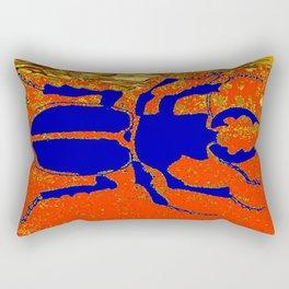 Blue Staghorn Beetle Rectangular Pillow