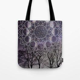 Purple Moon Phase Tote Bag