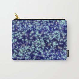 Navy Blue Sapphire Stars Carry-All Pouch