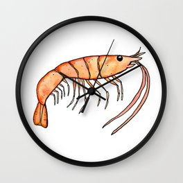 Prawn: Fish of Portugal Wall Clock