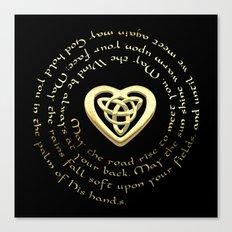 Irish Blessing & Celtic Heart Canvas Print