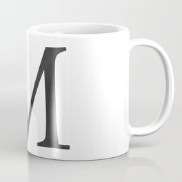 Letter M Initial Monogram Black and White Coffee Mug