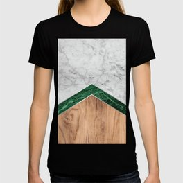 Arrows - White Marble, Green Granite & Wood #941 T-shirt