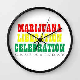 cannabis day Wall Clock