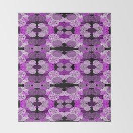 Snowflake II in Purples Throw Blanket