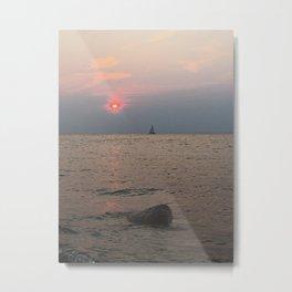Sailboat in the Sun at Fort Niagara Metal Print