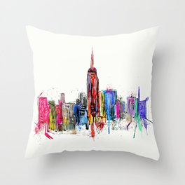 new york inked  Throw Pillow