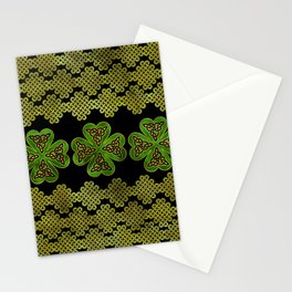 Shamrock Four-leaf clover with Triquetra Stationery Cards