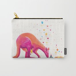Princess Kangaroo Art Print - Armadillo's Generous Offering Carry-All Pouch
