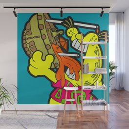 A Reason To Get Out Of Bed - garfield pop art painting Wall Mural