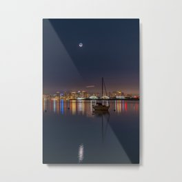 New Moon Over North Island Metal Print