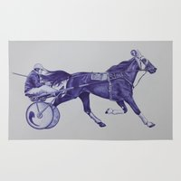 sport Area & Throw Rugs featuring Sport Horses by Tosasmok
