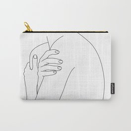 Nude figure line drawing illustration - Hetty Carry-All Pouch