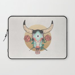 cráneo de vaca Laptop Sleeve