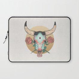 cráneo de vaca Laptop Sleeve