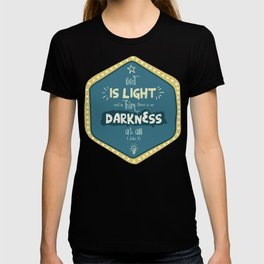 """God is Light"" Hand-Lettered Bible Verse T-shirt"
