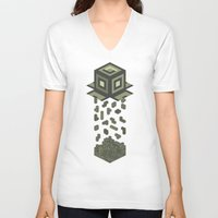 tetris V-neck T-shirts featuring Tetris by Delaney Digital