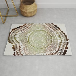 Tree Rings – Watercolor Ombre Rug
