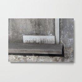 Closed Forever Metal Print