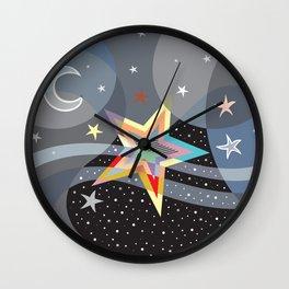Stars And The Moon Wall Clock