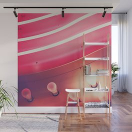 Pink Neon Glow Wall Mural