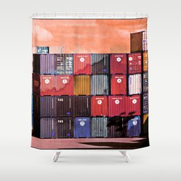 Colorful containers I Shower Curtain