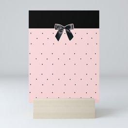 Black Tie Affair: Pink Mini Art Print