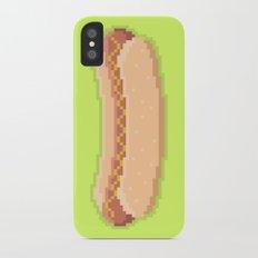 Pixel Hot Dog iPhone X Slim Case