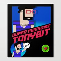 8 bit Canvas Prints featuring 8-bit by EarlyHuman