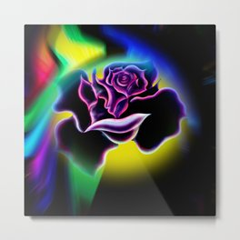 Flowermagic - Rose abstract Metal Print