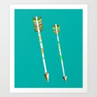 arrow Art Prints featuring Arrow by yuyuy