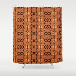 African Horn Print Spice Shower Curtain