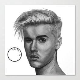 Graphite Justin Canvas Print