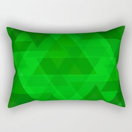 Bright green large triangles in the intersection and overlay. Rectangular Pillow